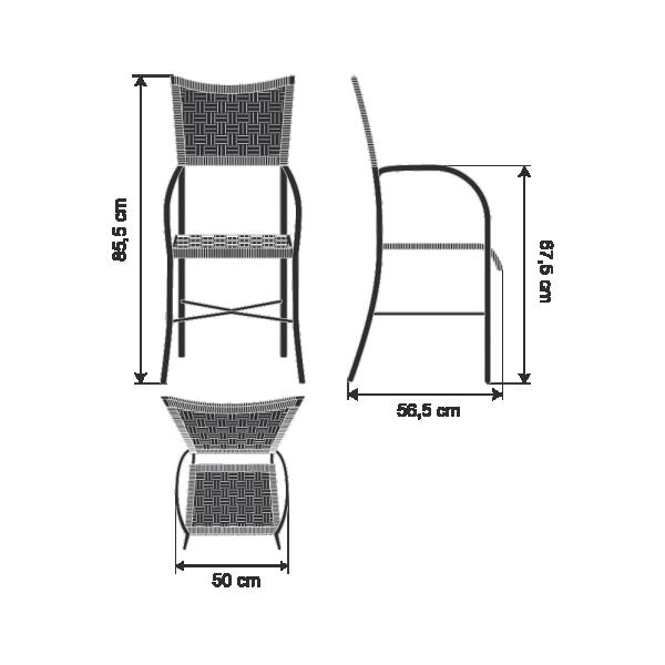 Cadeira Mediterraneo Com Braço